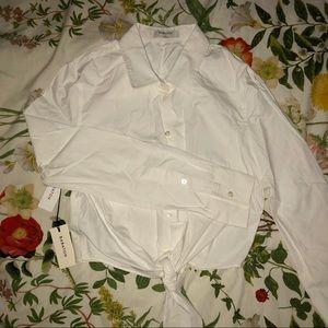 "Babaton ""Kanika"" cropped front-tie blouse"